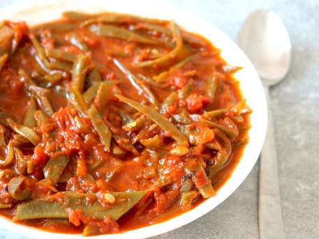 Orientalische grüne Bohnen in Olivenöl vegan