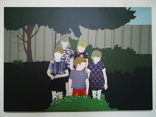 "Tela ""No Jardim"" - Artista Plástica Ivana Lima"
