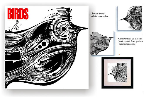 """Álbuns """"Birds"""", """"Hellboy"""" e """"Fish"""" - Cartunista Osvaldo Miranda"""