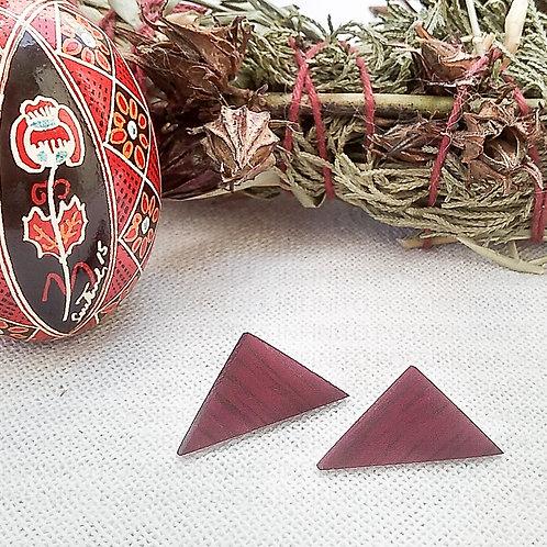 Brinco Triangular Roxinho P - Designer Infinito Possibilidade