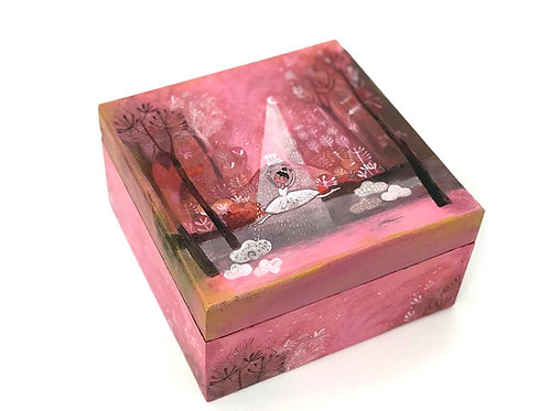 Caixa Ballerina quadrada - Ilustradora Fereshteh Najafi
