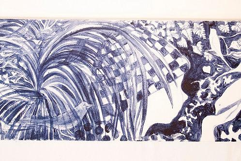 Menino e os Pássaros - Artista Plástico Denise Roman