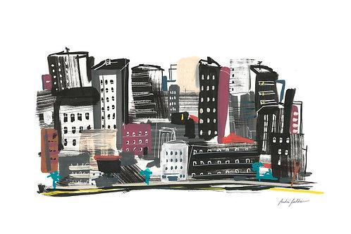 """Serie Lugares - """"Na Cidade"""" - Artista André Coelho"""