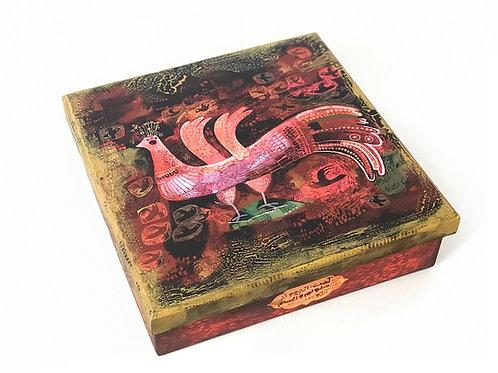 caixa Simorgh quadrada - Ilustradora Fereshteh Najafi
