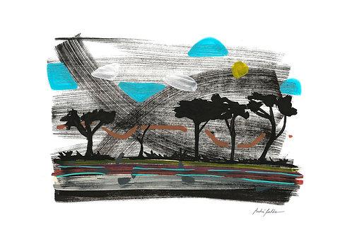 """Série Lugares - """"Na Floresta"""" - Artista André Coelho"""