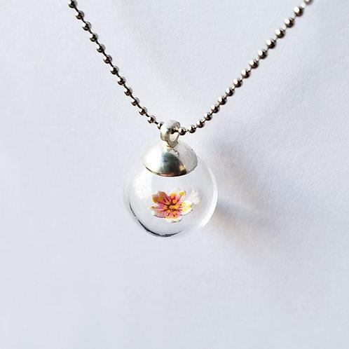 Colar Sakura (Flor de Cerejeira)_Orvalho - Artista Sandra Kuniwake