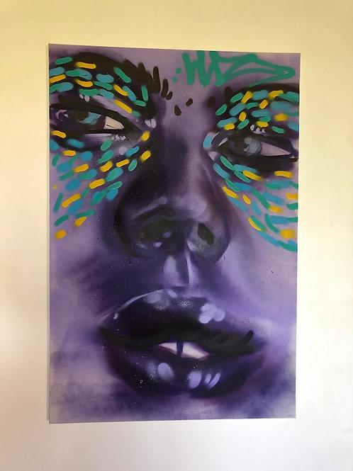 Quadro roxo - Artista Laura Luz