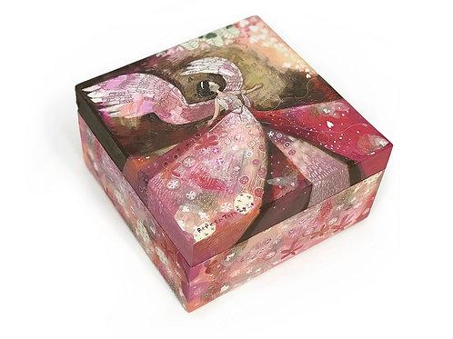 Caixa Angel quadrada tampa removível - Ilustradora Fereshteh Najafi