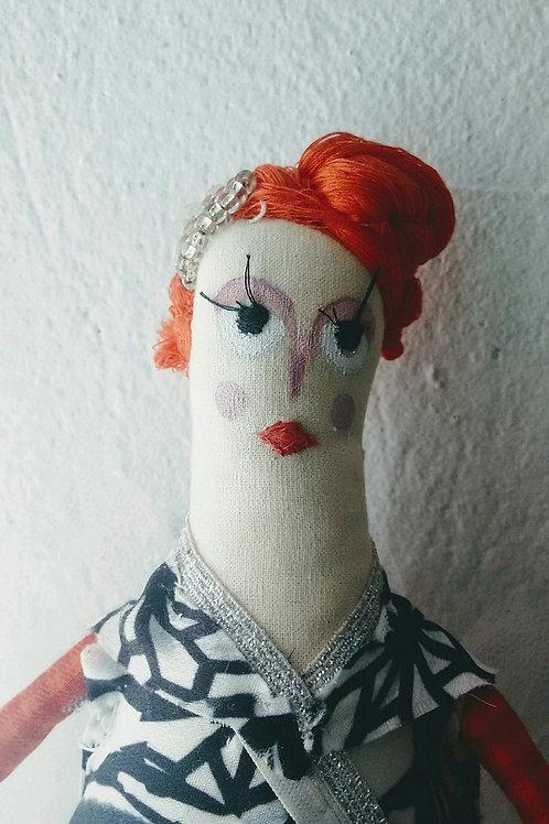 Bonecas em Tecido - Capim - Artista Cristine Conde