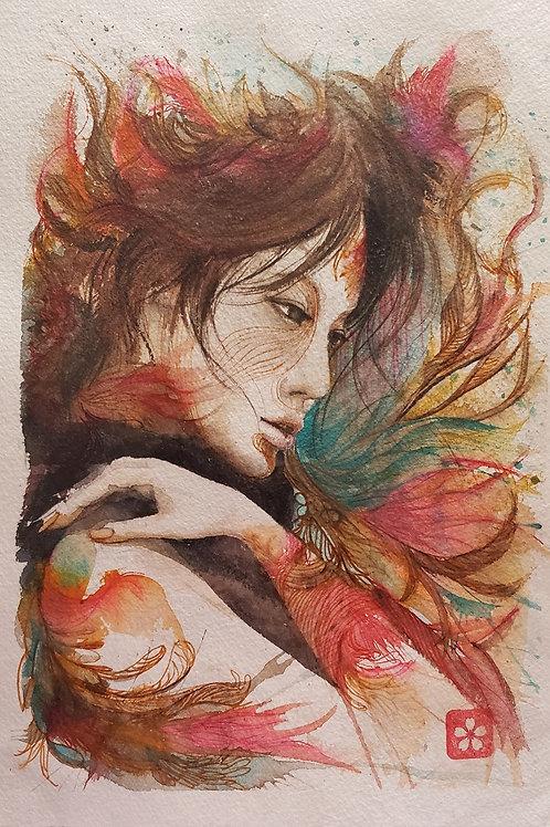 Mulher em Flor - Artista Sandra Kuniwake