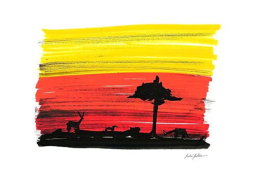 """Série Lugares - """"Na Savana"""" - Artista André Coelho"""