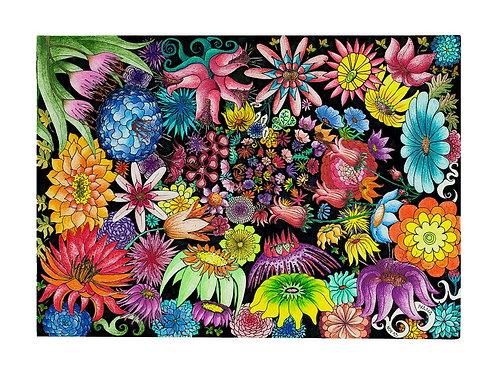 Flores para o Cosmos - Gravura - Artista Visual Ivana Cassuli