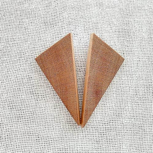 Brinco Triangular Amarelinho G - Designer Infinito Possibilidades