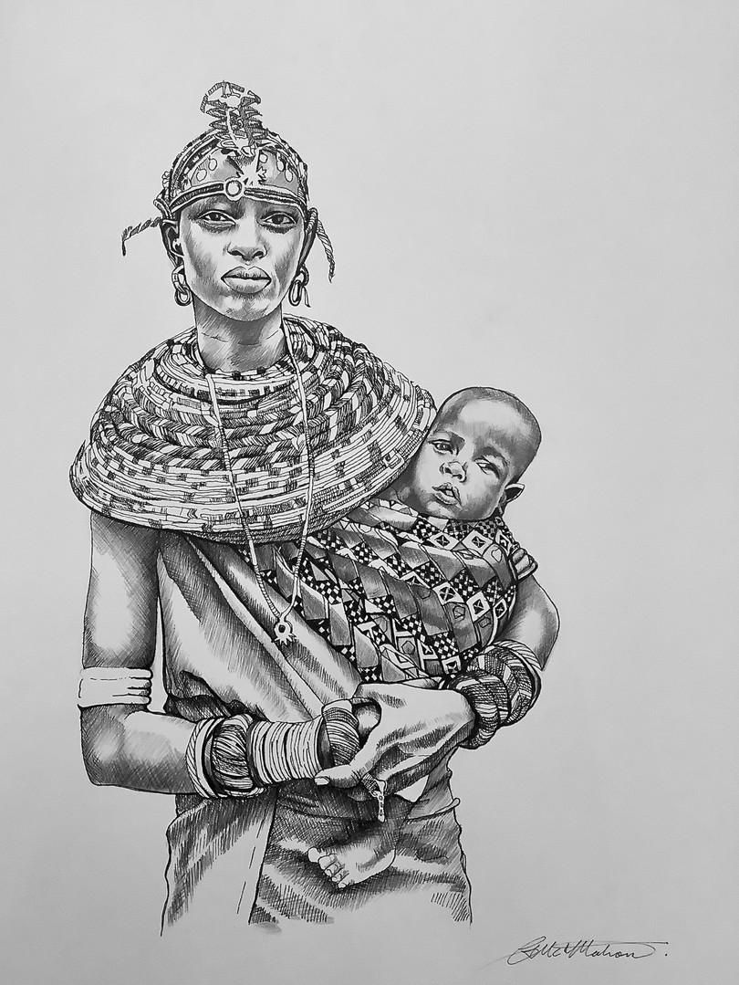 SAMBURER MOTHER, KENYA