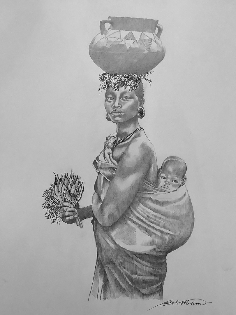ZULU MOTHER WITH CHILD
