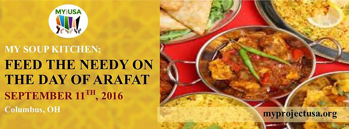 Feed the Needy on the Day of Arafat 2016