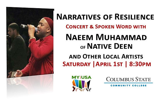 """THE CONCERT & SPOKEN WORD """"THE NARRATIVES OF RESILIENCE"""""""
