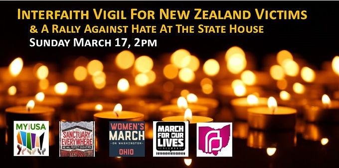 Interfaith Vigil For New Zealand Victims and Rally Against Hate