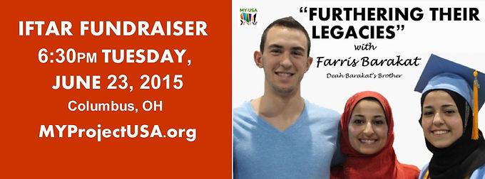 "Iftaar Fundraiser: ""Furthering Their Legacies"" with Farris Barakat"