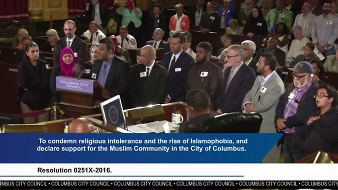 COLUMBUS CITY COUNCIL PASSES A RESOLUTION AGAINST ISLAMOPHOBIA
