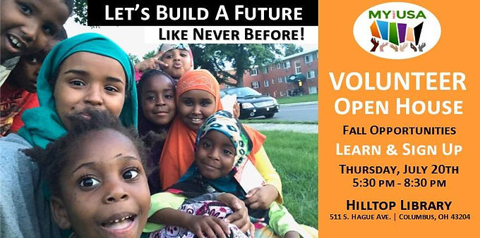 MY Project USA Volunteers Open House - Fall Season