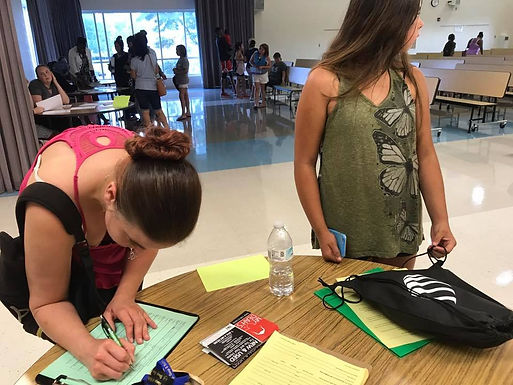 Wedgewood Middle School Registration Day
