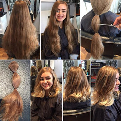 Haircut and sun kissed highlights by Marcus 😍 what a transformation. Perfect summer hair style
