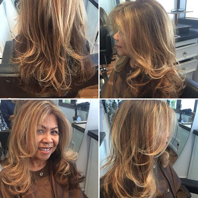 Pale blonde highlights and a root touch up adds some serious dimension to these gorgeous long locks