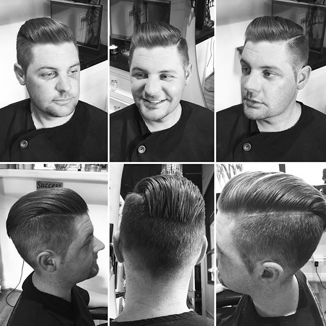 A 360 look at this amazing men's cut that Marcus did styled with _the_dgman #sandiegohairsalon #gqst
