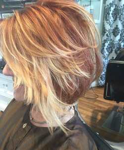 red base by Marcus #shorthair #moroccanoil #sunkissedhair #sandiegohairsa