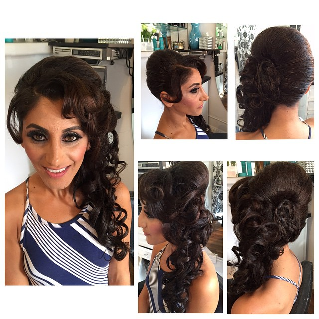 Stlyed Hair by #demarcus on our wonderful client _ritahallak #salondemarcus #demarcusalon #bestsandi