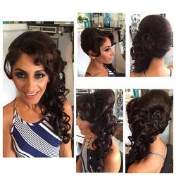 Stlyed Hair by #demarcus on our wonderful client _ritahallak #salondemarcus #demarcusalon #bestsandi