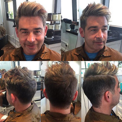 Cut, highlight, and a red lowlight by Marcus #sandiegohairsalon #salondemarcus #gqmen #gqstyle #dmoi