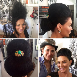 Elegant and beautiful hairstyle created by Marcus #salondemarcus hair pin from _boutiquedemarcus #sa