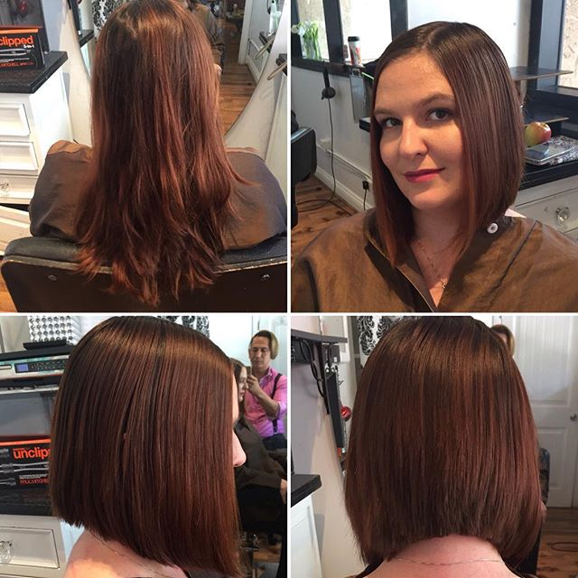 Long hair to short 😍😍 love this cut by Marcus #hair #salondemarcus #sandiegohairsalon #gaslamp #su