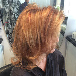 Cut, color, and highlight by Marcus. Styled with _moroccanoil thickening lotion, root boost, oil, an