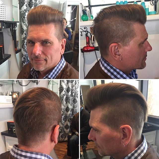 Men's cut by Marcus products used moroccanoil wax and molding clay mixed #salondemarcus #sandiegohai