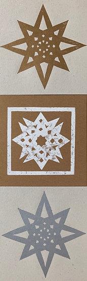 Star Christmas cards - set of 3