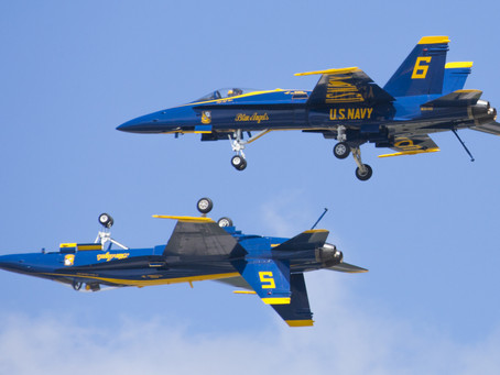 "Blue Angels say, ""Thank You!"""