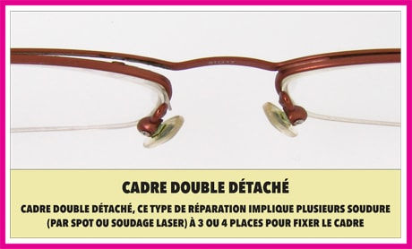 Detached double layer frame