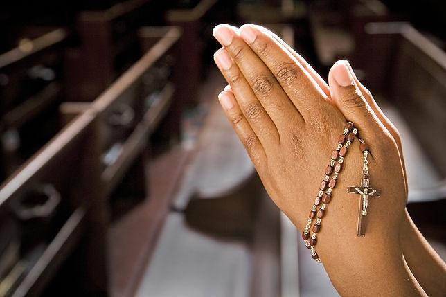 faith corner-hands rosary