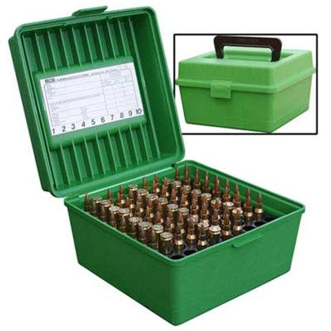MTM Case Gard 100 - R-100 MAG - Rifle Green/Red