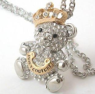 Juicy Couture Diamond Teddy Bear Necklace