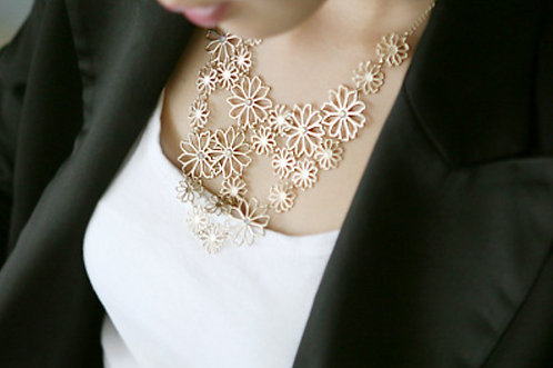 Golden Camellia Multi-layer Necklace