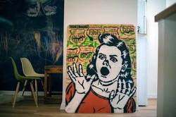 Toxicomano graffiti art work