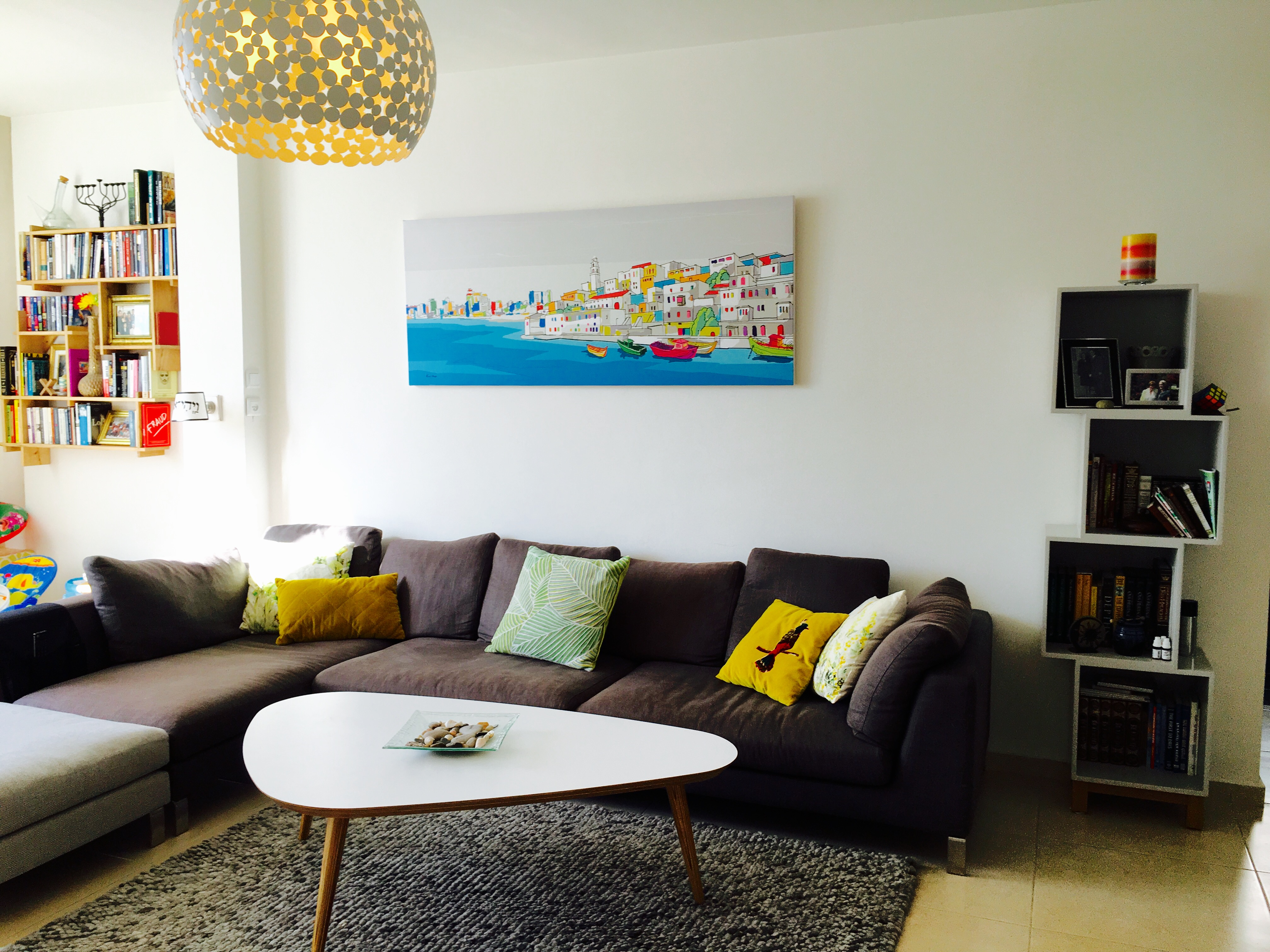 Adding colour to living room