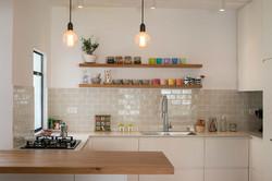 A bright new open plan kitchen