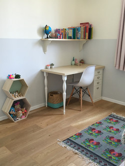 Study area for young girls bedroom
