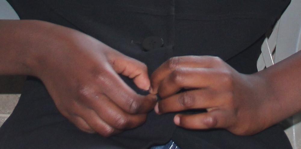 Fiddling hands