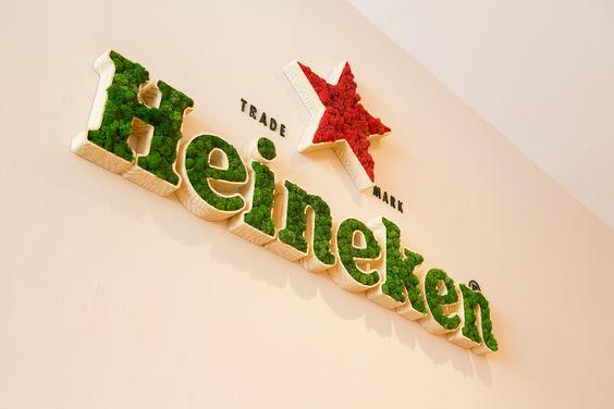 letreiro - Musgo Natural - Heineken